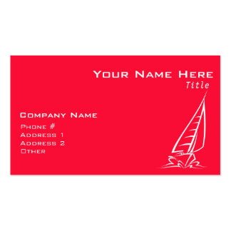 Scarlet Red Sailing; Sail Boat Business Card