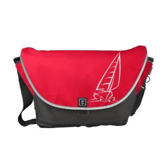 Scarlet Red Sailing; Sail Boat Commuter Bag
