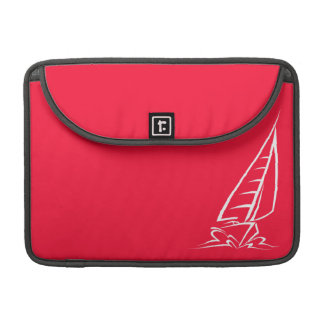 Scarlet Red Sailing; Sail Boat MacBook Pro Sleeves