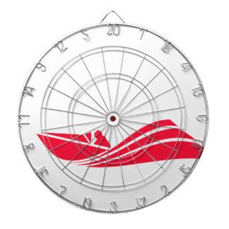 Scarlet Red Speed Boat Dart Boards