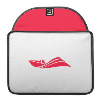Scarlet Red Speed Boat Sleeves For MacBook Pro