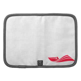 Scarlet Red Speed Boat Folio Planners