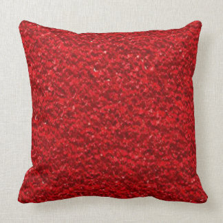 Scarlet Red Texture Throw Pillow