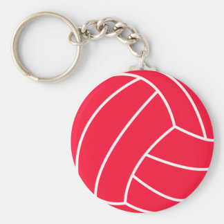 Scarlet Red Volleyball Keychain