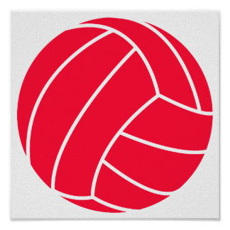 Scarlet Red Volleyball Print