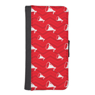 Scarlet Red, White, Chevron, Cheerleading iPhone SE/5/5s Wallet Case
