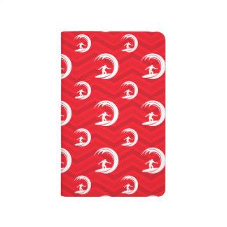 Scarlet Red, White, Chevron, Surfing, Surfer Journal