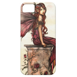 Scarlet Rose Fantasy Fairy Art iPhone Case