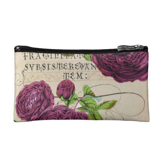 Scarlet Rose Vintage Cosmetic Bag