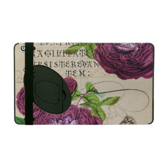 Scarlet Rose Vintage iPad Case