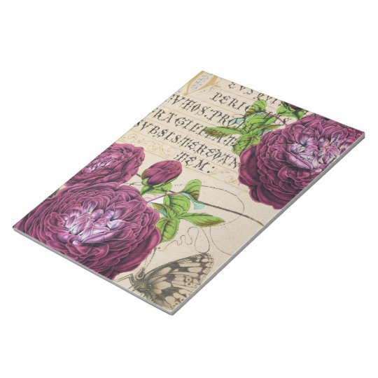 Scarlet Rose Vintage Notepad