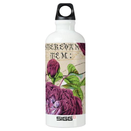 Scarlet Rose Vintage Water Bottle