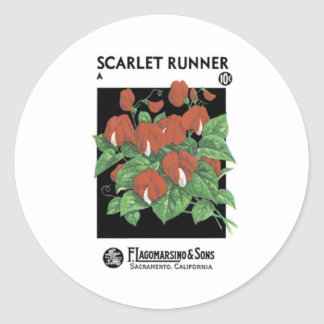 Scarlet Runner, F. Lagomarsino & Sons Classic Round Sticker