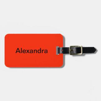 Scarlet Solid Color Luggage Tag