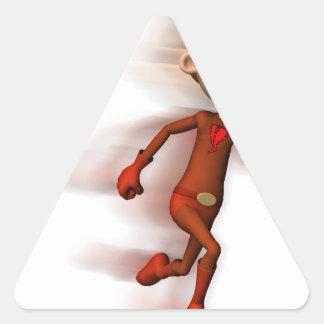 Scarlet Speedster Triangle Sticker