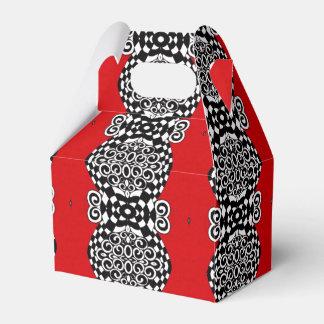 Scarlet Stripe Favor Box