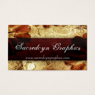 Scarlet Vintage Grunge Elegant Fashion Business Card