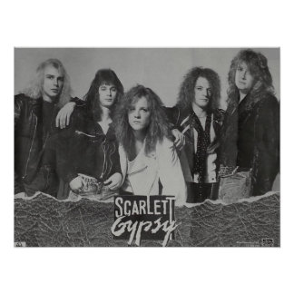 Scarlett Gypsy Glam Metal Rock Band Poster