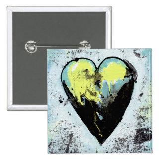 Scarred heart survivor expressive romantic art pinback buttons