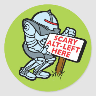 Scary Alt-Left Here Sticker