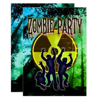 Scary  and Funny Zombie Costume Party Invitation