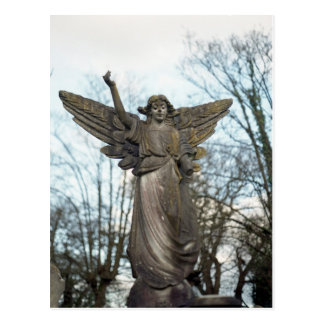 Scary Angel Statue Postcard