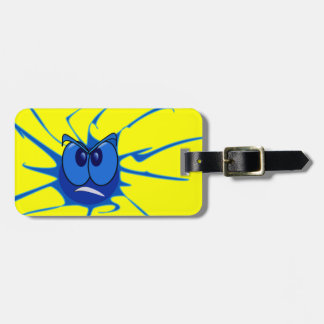 Scary Blue Spider Dude Luggage Tag