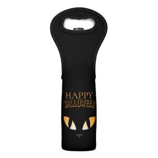 Scary Cat Eyes- Happy Halloween Wine Bag