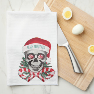 Scary Christmas Kitchen Towel