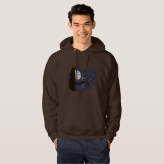scary christmas owl mens hooded sweatshirt