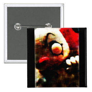 Scary Clown 2 Inch Square Button