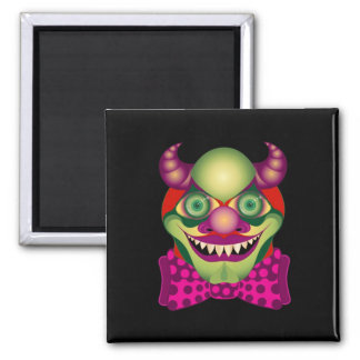 Scary Clown awesomely horrific and cute magnet 2