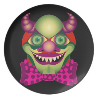 Scary Clown awesomely horrific & cute party plate
