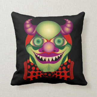 Scary Clown awesomely horrific decorative pillow