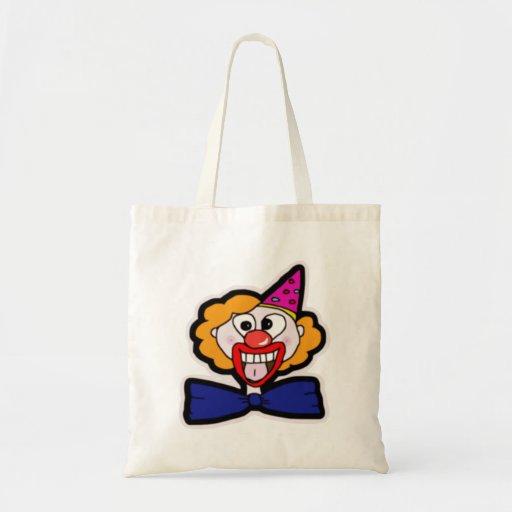Scary Clown Canvas Bag