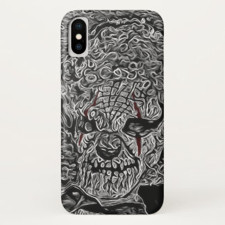 Scary Clown Black and White iPhone X Case