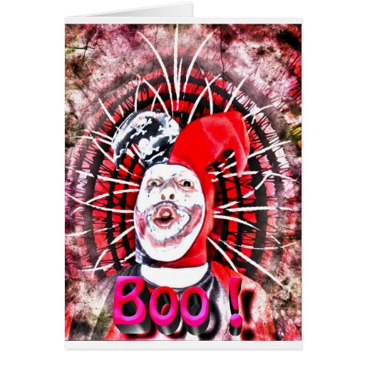 scary clown greeting cards