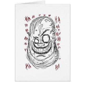 Scary Clown Card