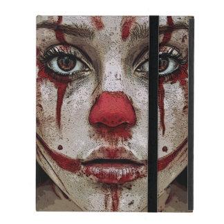 Scary clown girl iPad folio cover