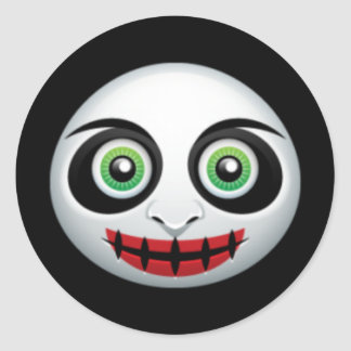 Scary Clown Halloween Stickers