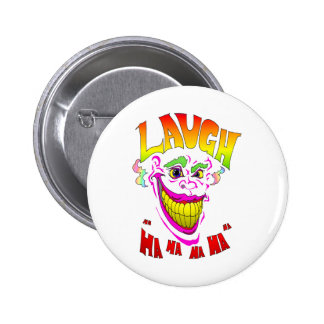 Scary Clown Laugh 2 Inch Round Button