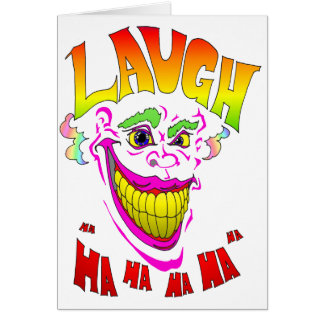 Scary Clown Laugh Greeting Cards