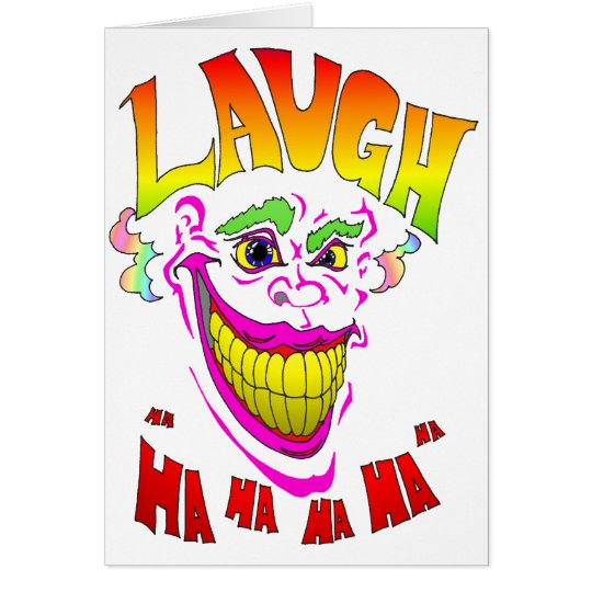 Scary Clown Laugh Card