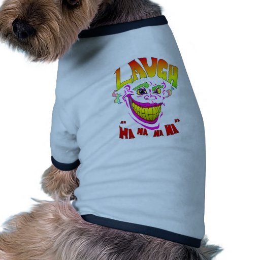 Scary Clown Laugh Dog Clothes