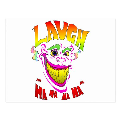 Scary Clown Laugh Post Card