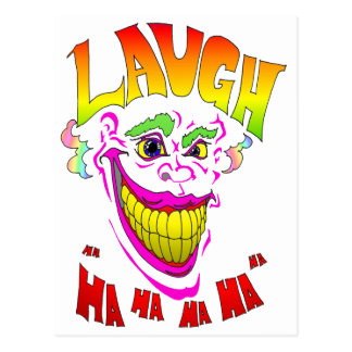 Scary Clown Laugh Postcard