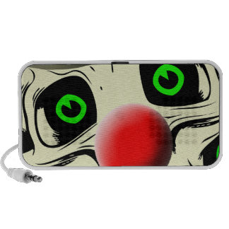 Scary Clown Looking at You Doodle Travelling Speakers