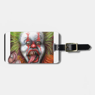 scary Clown Luggage Tags