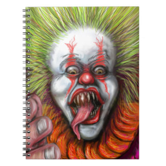 scary Clown Spiral Note Books
