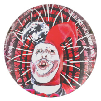 scary clown party plate